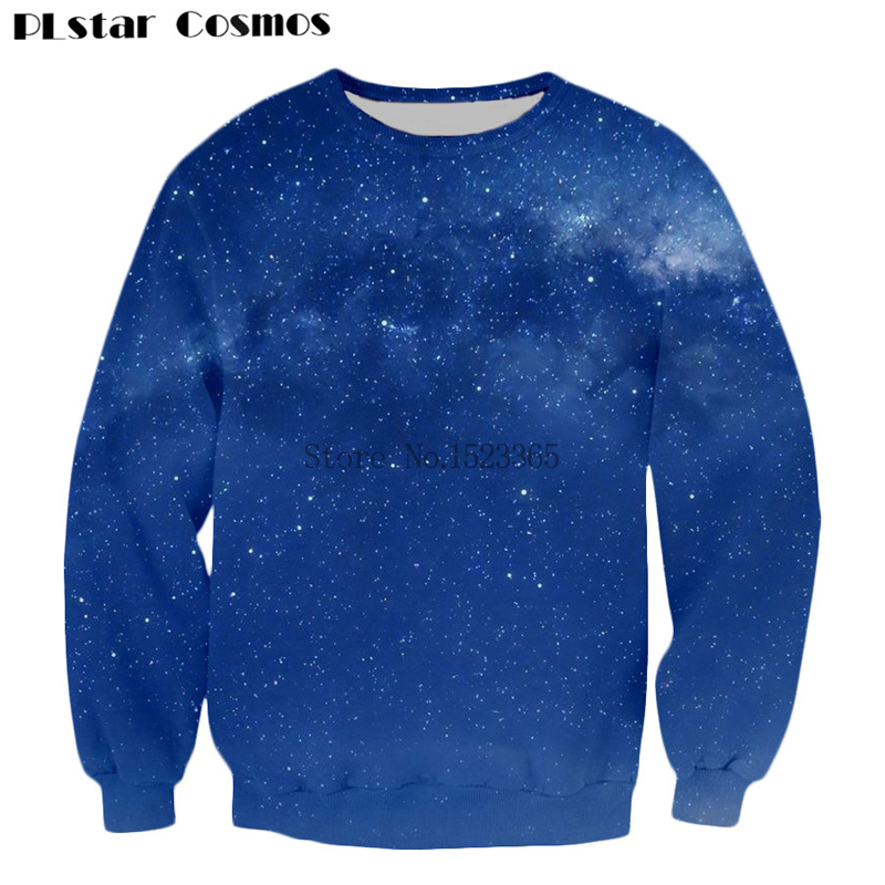 PLstar Cosmos Latest design Galaxy 3d Long sleeve Sweatshirts Men/Women Fashion Outwear Starry sky 3d Print Crewneck Pullovers
