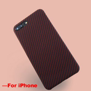 Image 4 - Ultra Sottile Variopinta Caso In Fibra di Aramide per iPhone X Della Copertura Opaca di Gomma Modello In Fibra di Carbonio per il iPhone 7 8 7 più di 8 Più Il Caso di