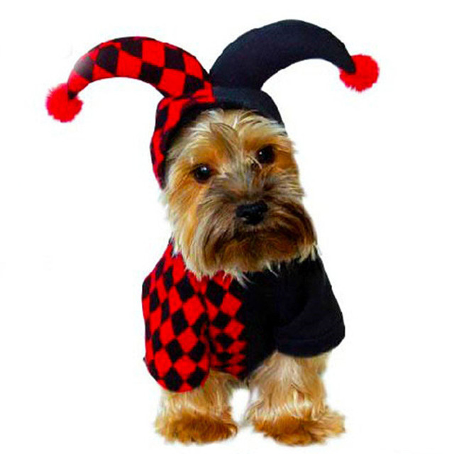novelty funny dog clothes halloween puppy pet clothing little devil dog costume winter dog hoodies for
