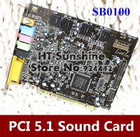 High Quality 1PCS LOT Sound Blaster Live 5 1 SB0100 PCI Sound Card For CREATIVE Tested