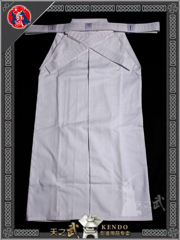 Augstas kvalitātes 7000 # 100% kokvilnas balts Kendo Iaido Aikido Hakama cīņas mākslas vienotā sporta apģērbs Dobok Bezmaksas piegāde