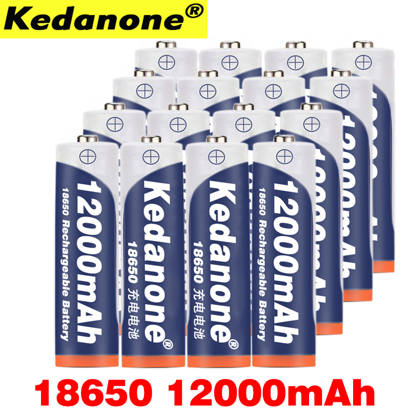 2~10pcs 18650 Battery Rechargeable 3.7V 18650 12000mAh Capacity Li-ion Rechargeable Battery For Flashlight Torch Battery