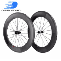 Standard 700c 88mm CARBON TUBULAR BIKE WHEELS for Triathlons Time Trials Bikes Road bicycle Wheelset chosen 20 24 Holes UD 3K