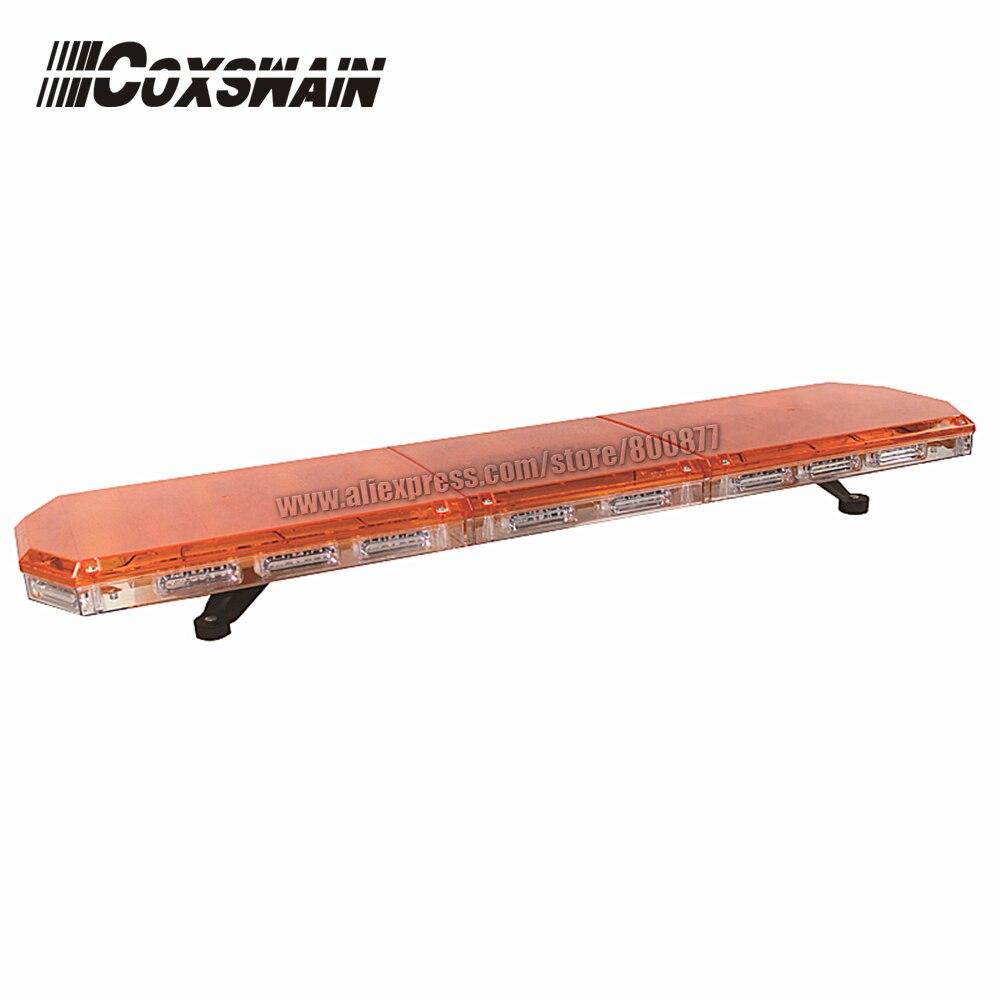 22*LIN-4 1W LED module, TBD-GA-10326L Amber LED Lightbar, 18 flash pattern, waterproof, for ambulance emergency truck