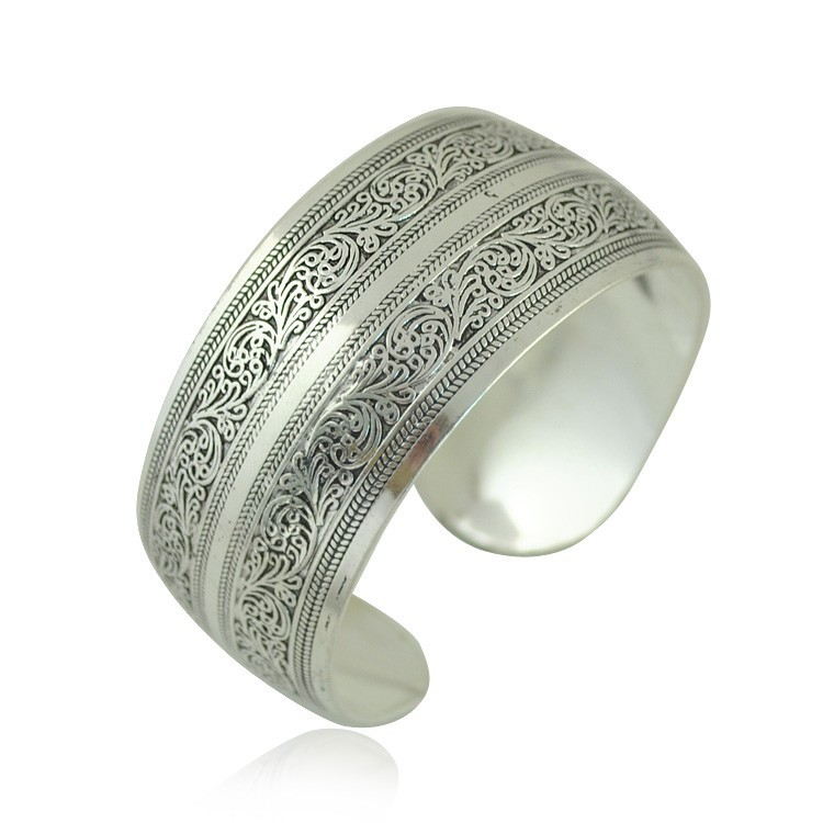 Yumfeel Factory Wholesale Tibetan Jewelry Vintage Silver Bangles ...