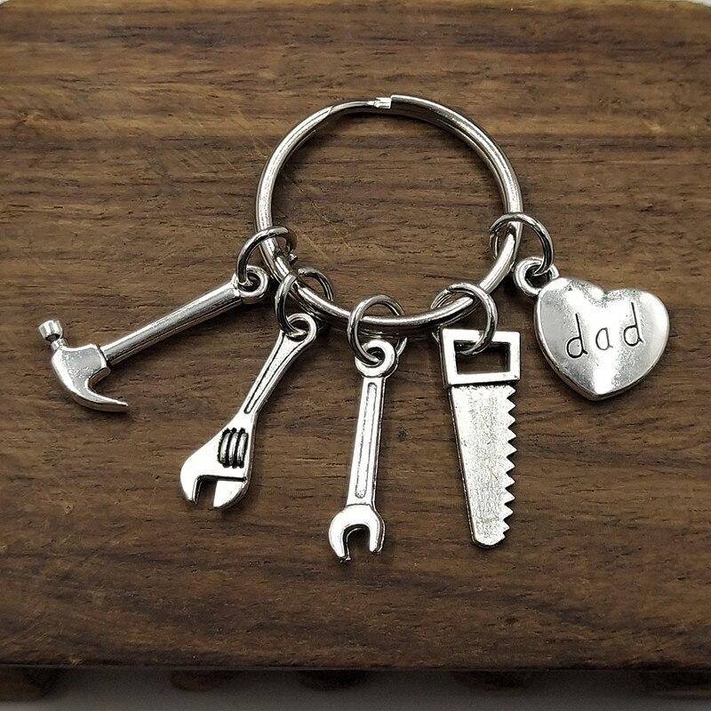 Daddy Keychain ,Tool Keychain, Hammer Wrench Charm  Keychain , Dad Charm , Dad Gift