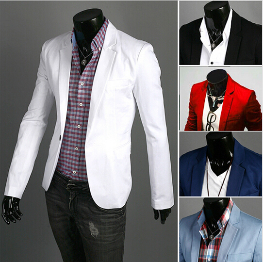 Suit Jacket Fashion Clothing Slim-Fit Masculino Single-Button Men's Casual Terno Wild