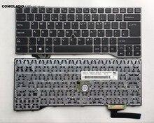 Uk teclado para fujistu lifebook e733 e744 e743 sliver quadro teclado do portátil uk layout