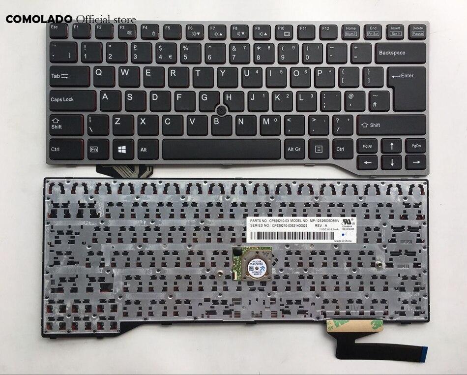 UK Keyboard For Fujistu Lifebook E733 E744 E743 Sliver Frame Laptop Keyboard UK Layout