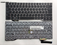 UK keyboard For Fujistu Lifebook E733 E744 E743 sliver frame Laptop keyboard UK Layout brand new uk replacement laptop keyboard for lenovo z500 silver frame backlit win8 25206566 v 136520fk1 uk notebook keyboard