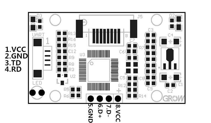 Image 5 - R303 Capacitive Fingerprint Reader/ Module/Sensor/Scanner-in Fingerprint Recognition Device from Security & Protection