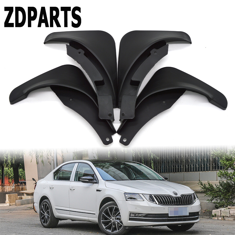 ZD Car Front Rear Mudguards For 2013 2014 2015 Skoda Octavia A7 Accessories Splash Guard Car-styling Fenders 1Set/4Pcs Mud Flaps