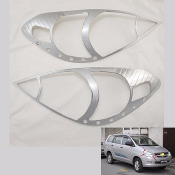 Chrome Headlight Cover Trim For Toyota AN40 INNOVA 2004-2010 Head Lamps Shell Frame Decoration Car Accessories image