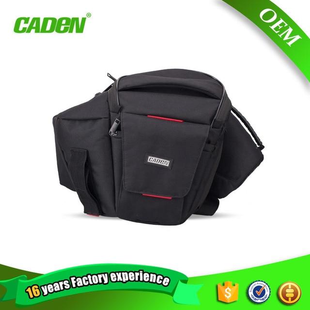 Caden Waist Packs Camera Black Fashion Bag New Brief Polyester Waist Bags Men Women Digital Camera Soft Bags For Canon Nikon
