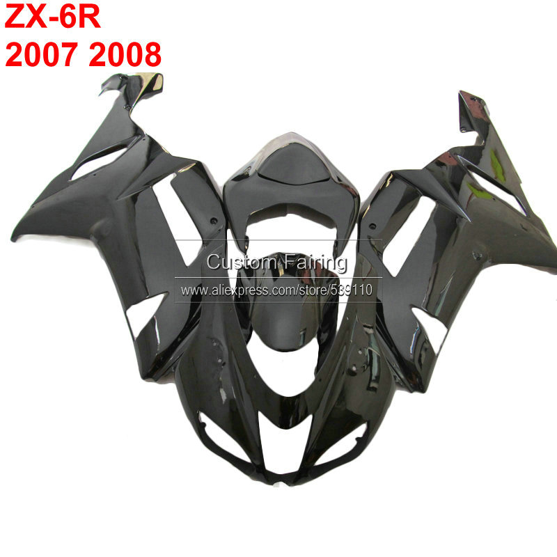 matte&glossy fairing kit for Kawasaki zx6r zx 6r Ninja 07 08 2007 2008 black Injection molding fairings xl10 motorcycle fairing kit for kawasaki ninja zx10r 2006 2007 zx10r 06 07 zx 10r 06 07 west white black fairings set 7 gifts kd01