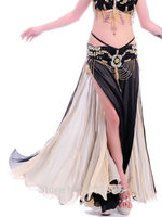 Gorgeous Double Tiered Double Color Skirt With Falbala For Dance Or Performance 6002