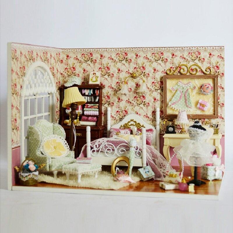 Симпатичный номер DIY кукольная Миниатюра с мебель ручной работы кукольный дом 3D деревянная модель собрана игрушки для детей солнце V006 # E