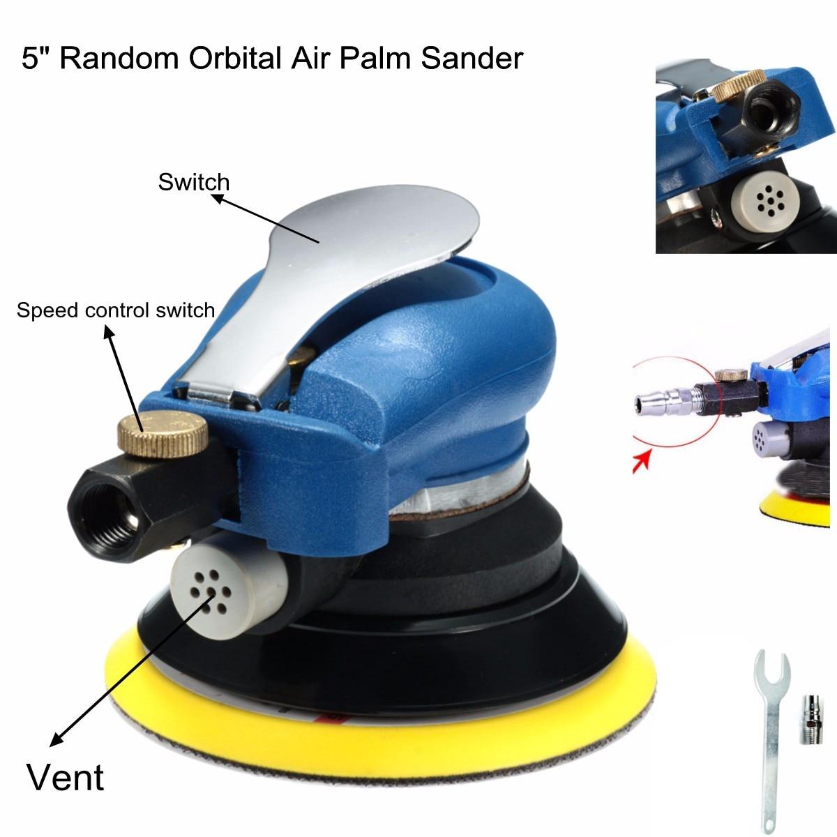 5inch 9000rpm Air Orbital Sander Random Hand Sanding Pneumatic Round for Automotive Sheet Metal Putty Grinding orbital brighton