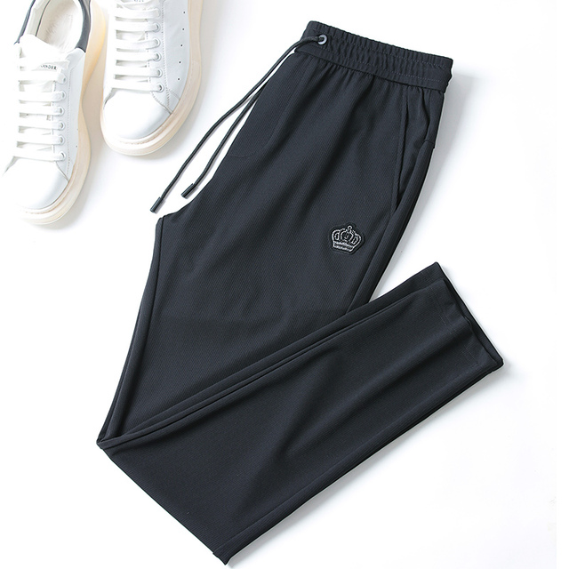 Free shipping Summer Men's  fashion casual Pants , Comfortable  Men's thin elastic trousers,black color ,size 29-40 35