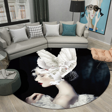 Creative Nordic Round network ins carpet home bedroom bedside entrance elevator floor mat sofa coffee table anti slip carpet fashion round carpet bedroom ins bedroom living room coffee table mat bedside carpet anti slip mat strong absorbent carpet
