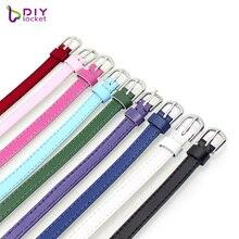 8 мм браслет из натуральной кожи DIY браслет подходит 8 мм скользящие подвески/Скользящие буквы для женщин и мужчин ювелирные изделия высокого качества LSBR016
