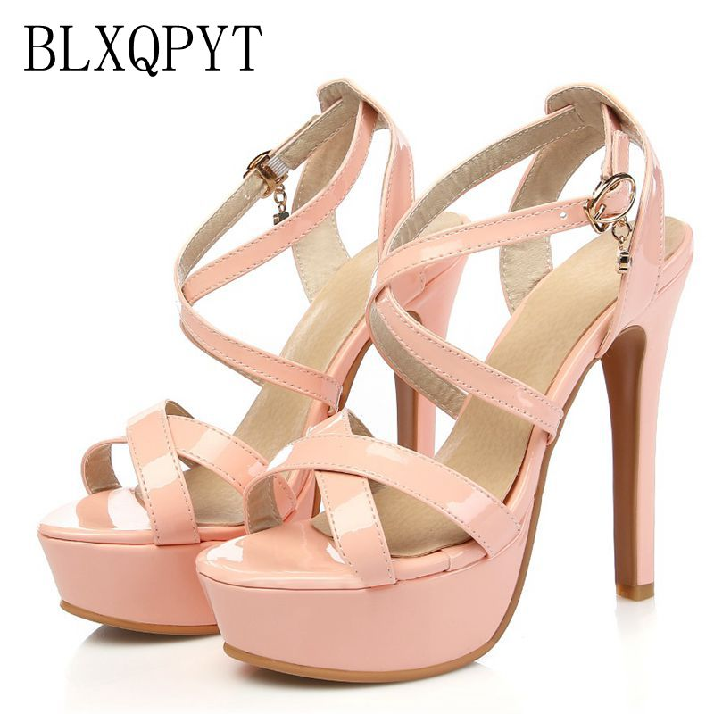 2017 New Gladiator Sandals Women Sexy fashion Big Size 30-48 Lady Shoes Super High Heel Women Pumps wedding Party shoes 431-3 все цены