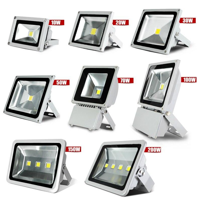 Ultrathin LED מבול אור 10 W 20 W 30 W 50 W זרקור AC85-265V waterproof IP65 הארה חיצונית תאורה חינם חינם IY105102