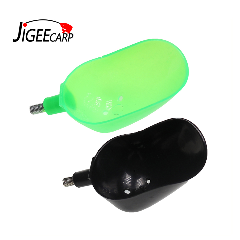 JIGEECARP 1pc/2pcs Carp Fishing Plastic Baiting Throwing Spoon Tools For Feeding Particles Boilies Carp Fishing Tackles