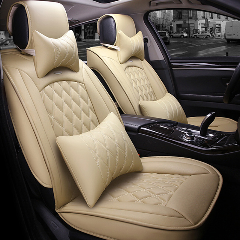 XWSN Universal car seat cover for audi a1 a3 8p 8v sportback a4 b6 b7 b8 a6 c5 c6 c7 q5 q7 tt car seat cover Car seat protector custom fit full cover car floor mats for audi a6 c5 c6 c7 a4 b6 b7 b8 allroad avant all weather waterproof car styling liners