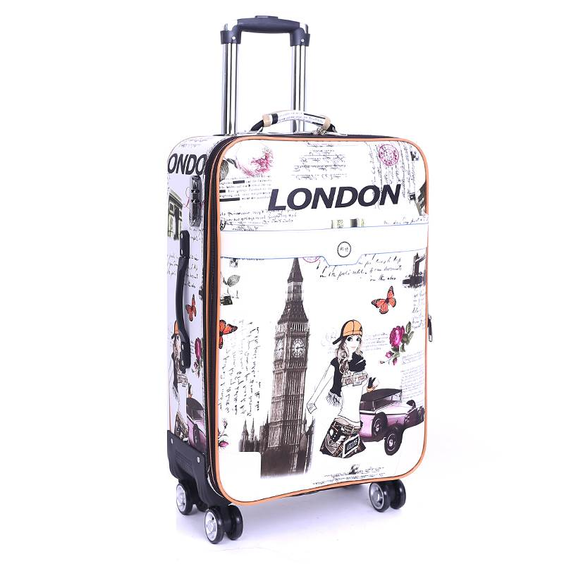 20 22 24 26 inches students boarding box consignment box fashion trolley case Travel spinner Password luggage rolling suitcase