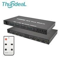 ThundeaL HDMI Matrix 4x4 HD 4K 2K HDMI Switch Splitter 4 Input 4 Output 3D 1080P 60Hz True Matrix Converter Adapter + Remote