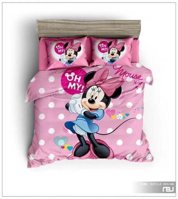 Minnie Mouse Imprime Couettes Literie Ensembles Fille De Chambre