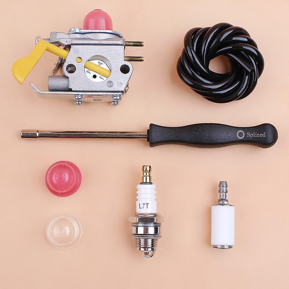 Weed Eater Repair >> Us 18 65 Carburetor Carb Repair Kit For Zama C1u W18 Poulan Craftsman Weedeater Trimmer 530071752 530071822 545081808 With Screwdriver In Grass