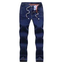 2018 Новая весна случайные мужские джинсы Прямые джинсовые брюки тонкие джинсы мужская одежда средне