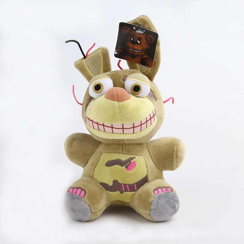 18cm fnaf brinquedo de pelúcia cinco noites no freddy de pelúcia com bloqueio fazbear mangle bonnie foxy animais de pelúcia brinquedos de boneca de bebê presente