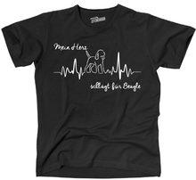 2020 mode heißer verkauf THEART T-Shirt Hunde Hund HERZSCHLAG BEAGLE mein Herz Siviwonder T hemd
