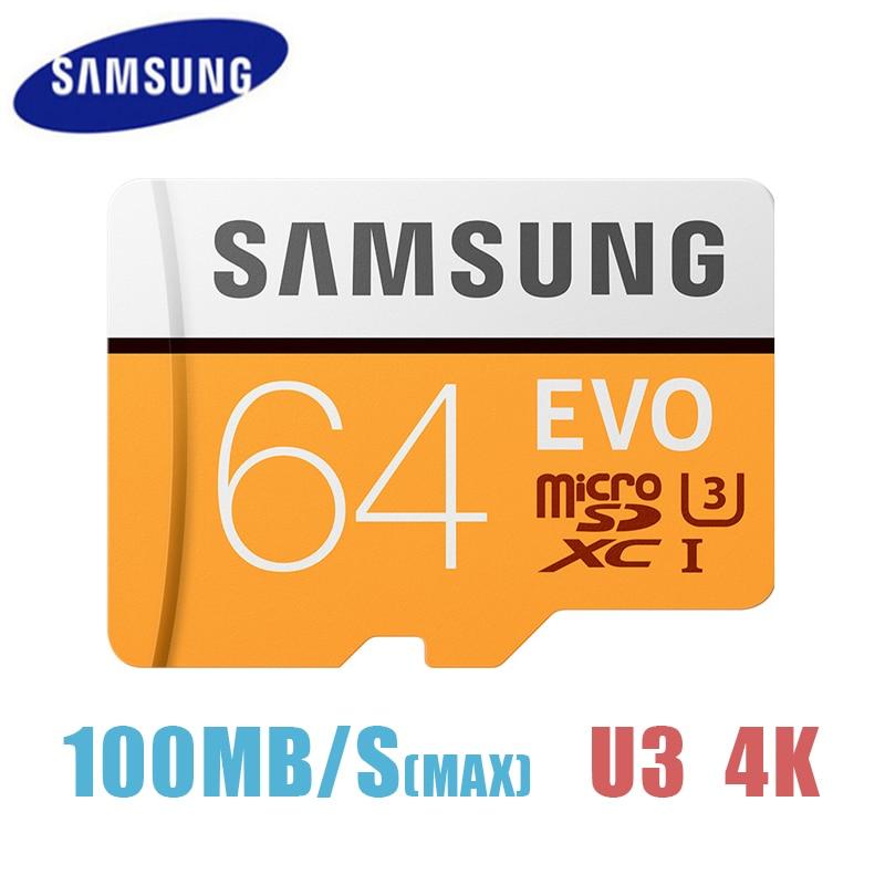SAMSUNG TF Trans Flash Micro Card 32GB 64GB 128GB 256GB MicroSD Cards SDHC SDXC Max 100Ms EVO C10 Micro SD Memory Card