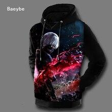 Tokyo ghoul 3D gedruckt männer frauen pullover hoodies sweatshirt anime hip hop herbst winter jacke mantel