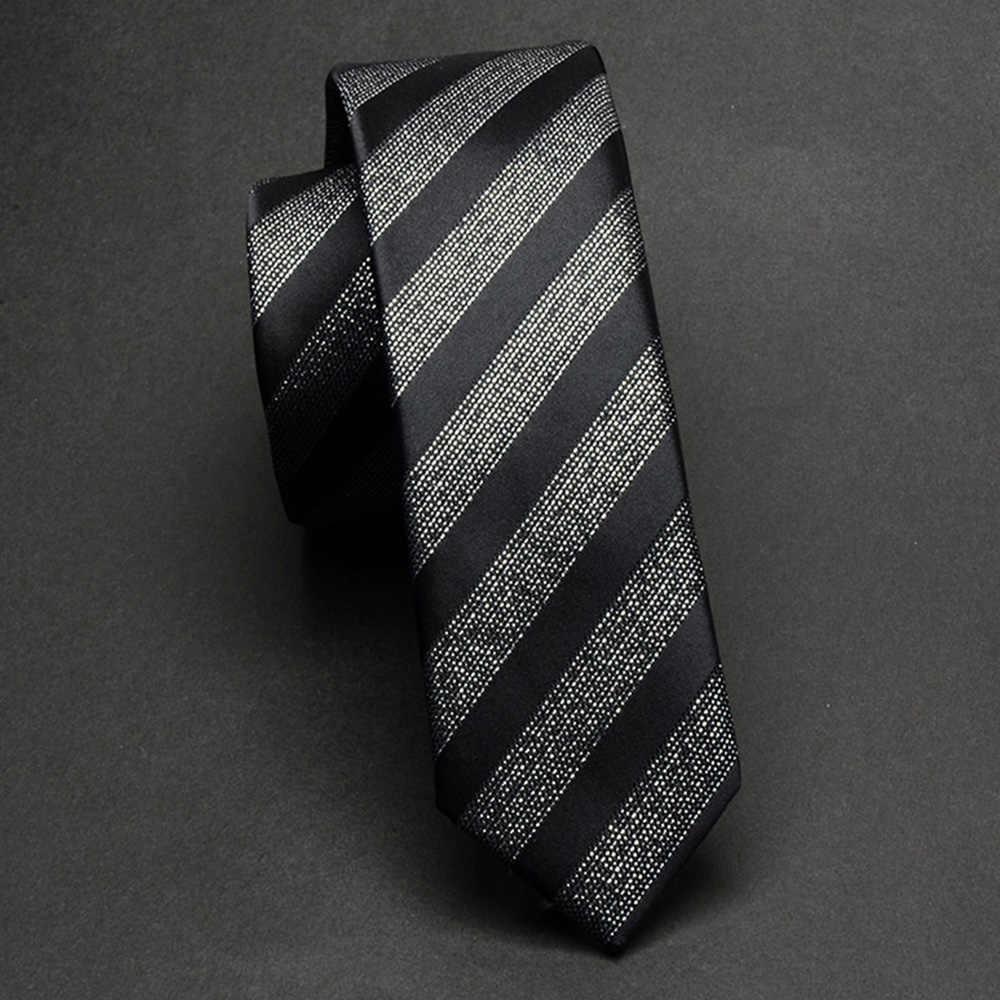 Rbocott Slim Dasi Hitam Perak Abu-abu untuk Pria Klasik Bergaris Paisley Dasi 5 Cm Mens Dasi Kurus Kasual Tahan Air Leher dasi