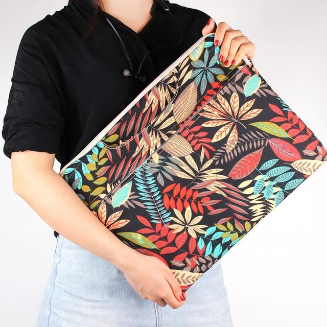 cbaca39e2274 Fashion Laptop Bag for MacBook Air Pro 13 11 15 15.6 inch Canvas PC  Notebook Case Laptop Sleeve Handbag for woman man Computer