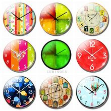 8pcs 25mm Color Clock Fridge Magnet Glass Gemstone Luminous Refrigerator Magnetic Stickers Souvenir Interesting Home Decor