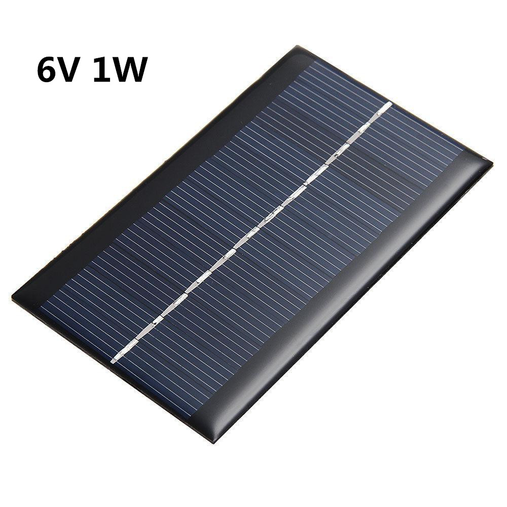 Active Components Humble 6v 1w Solar Panel Bank Solar Power Board Module Portable Diy Power High Conversion For Light Battery Cell Phone Toy Chargers To Enjoy High Reputation At Home And Abroad