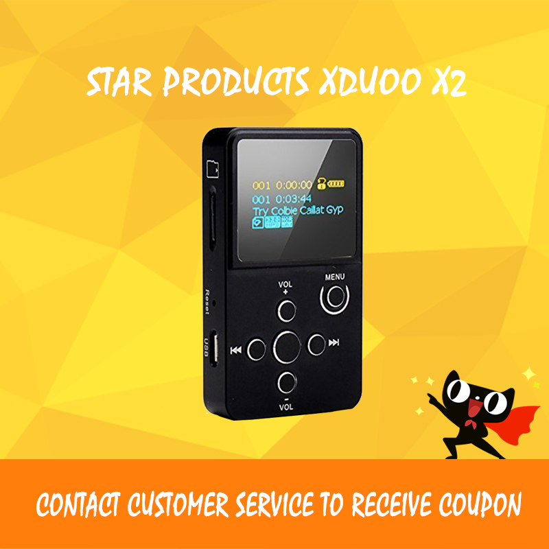 ASD XDuoo X2 Professional MP3 Lossless HiFi Music Player Entry-level with OLED Screen * Support MP3 WMA APE FLAC WAV format high quality xduoo d3 professional lossless music mp3 hifi music player with hd oled screen support ape flac alac wav wma ogg