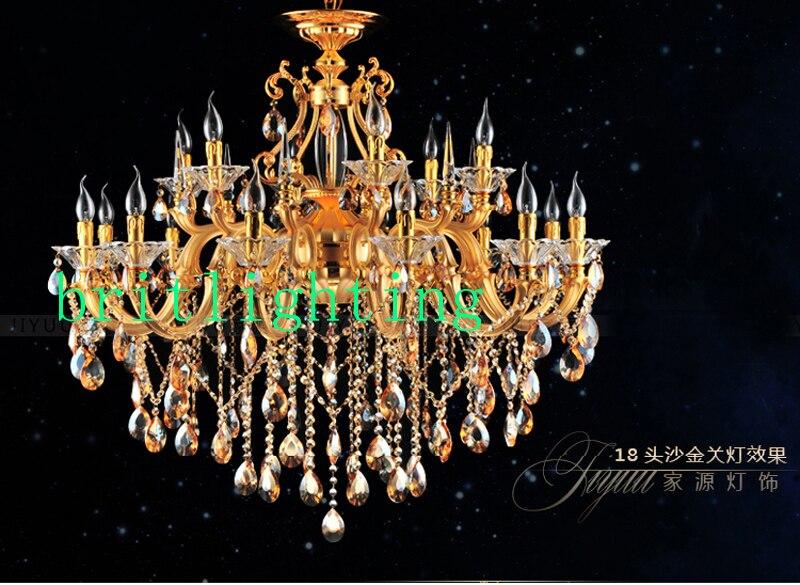 Led Kristall Kronleuchter ~ Moderne luxus gold led kristall kronleuchter licht decke