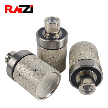 Raizi 2 Inch Vacuum Brazed Diamond Grinding Drum Wheel Coarse Medium Granite Marble Stone Angle Grinder Sink Grinding Wheel