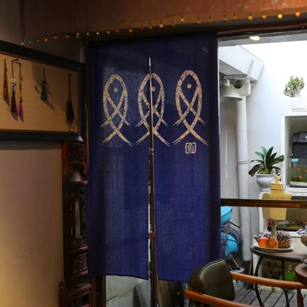 Japanese Style Golden Fish Door Curtain 3