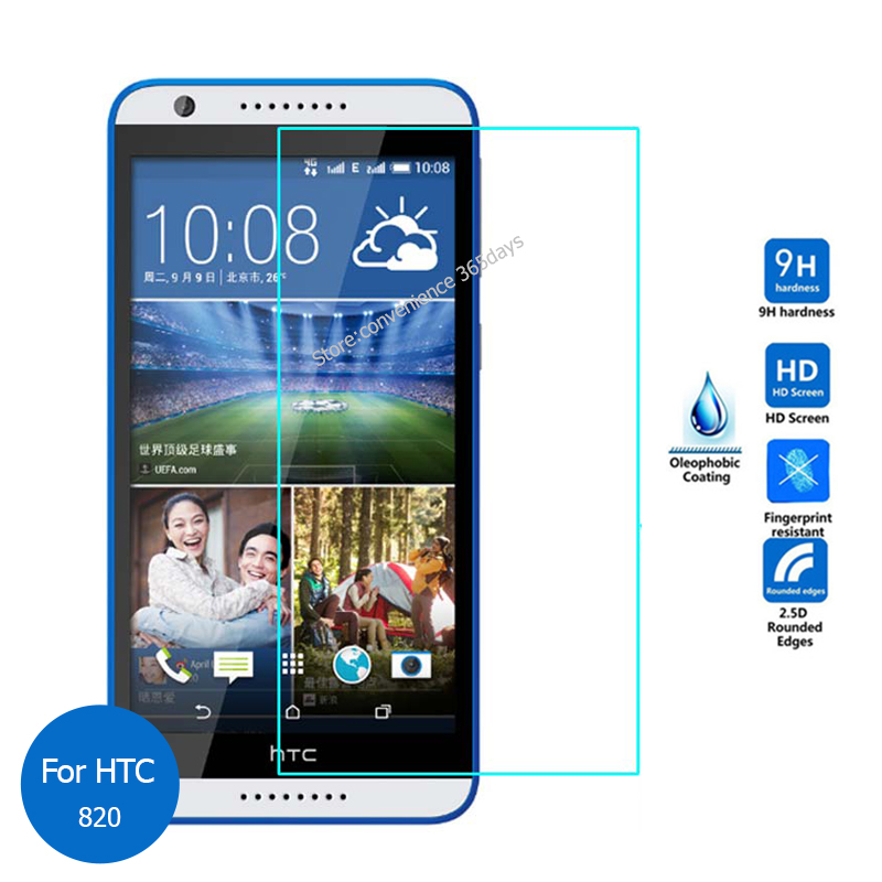 For HTC Desire 820g Tempered Glass Screen Protector 2.5 9h Safety Protective Film on 820 A51 820S D820s 820G+ D820us Dual Sim