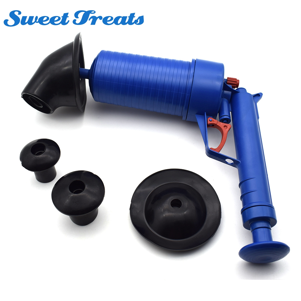 Sweettreats Home High Pressure Air Drain Blaster Pump Plunger Sink Pipe Clog Remover Toilets Bathroom Kitchen Cleaner Kit