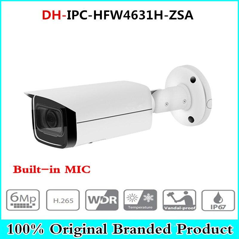 Origina 6MP IP Camera IPC-HFW4631H-ZSA Upgrade Version Of IPC-HFW4431R-Z With Build In Microphone SD Card Slot Poe Camera 6MP HD