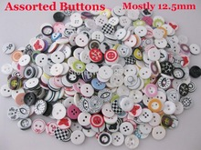 Assorted Shirt Buttons 150pcs Mix randomly Resin for clothes Round 12.5mm sewing buttons craft Design